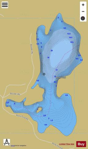 Rocky Pond Fishing Map - i-Boating App