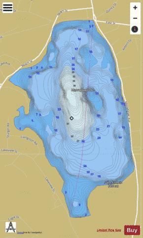 Massapoag Lake Fishing Map - i-Boating App