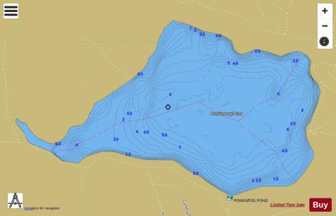 Ponkapoag Pond Fishing Map - i-Boating App