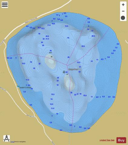 Marys Pond Fishing Map - i-Boating App