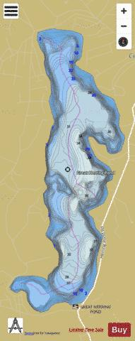 Great Herring Pond Fishing Map - i-Boating App