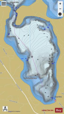 Mashpee Pond Fishing Map - i-Boating App