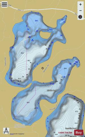 Mystic Lake Fishing Map - i-Boating App