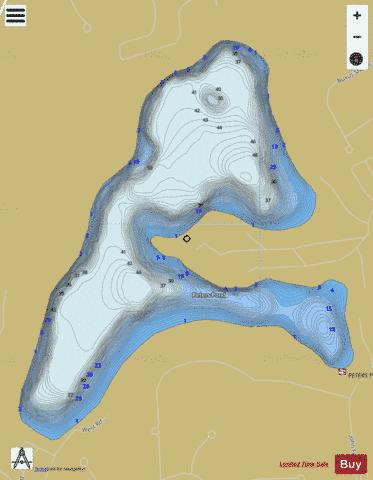 Peters Pond Fishing Map - i-Boating App