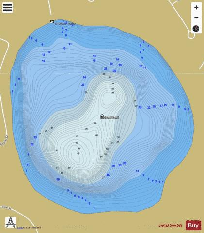 Shubael Pond Fishing Map - i-Boating App