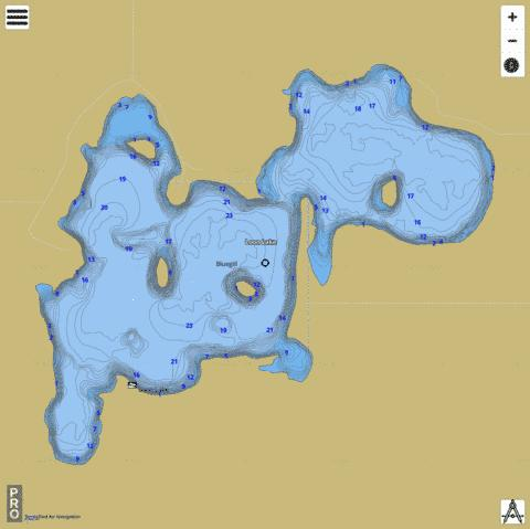 Loon Lake Fishing Map - i-Boating App