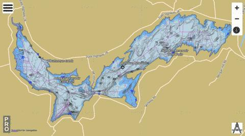 Ashokan Reservoir Fishing Map - i-Boating App