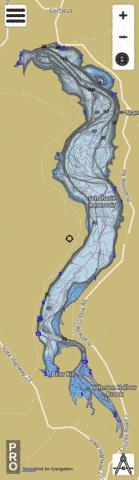 Schoharie Reservoir Fishing Map - i-Boating App