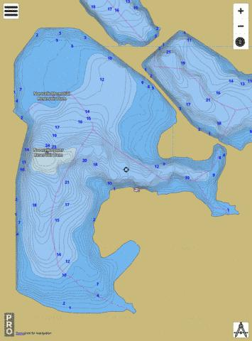 MEMORIAL RESERVOIR Fishing Map - i-Boating App