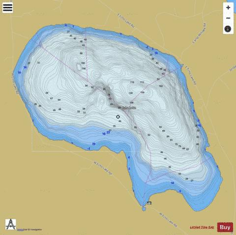 Echo Lake Fishing Map - i-Boating App