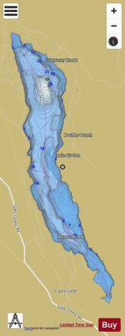 Groton Pond Fishing Map - i-Boating App