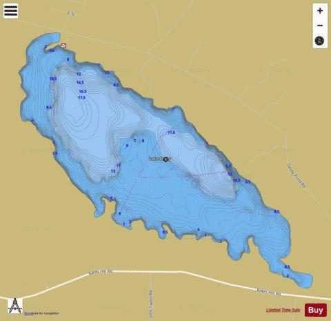 Lake Derby Fishing Map - i-Boating App