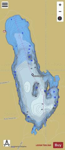 Lake Iroquois Fishing Map - i-Boating App