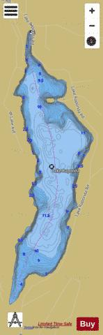 Lake Raponda Fishing Map - i-Boating App