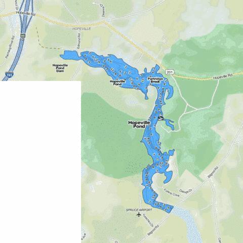 Hopeville Pond Fishing Map Us Ct 1284 Nautical