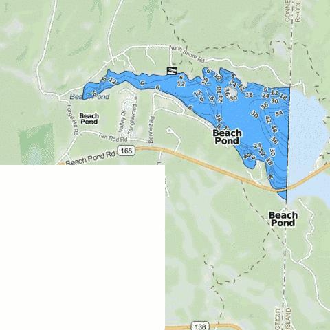Beach Pond Fishing Map Us Ct 142 Nautical Charts App