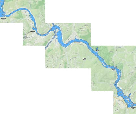 Lake Zoar Fishing Map  US_CT_1554  Nautical Charts App