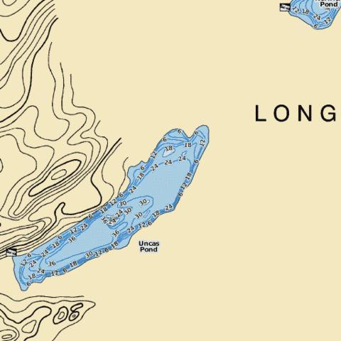 Uncas pond fishing map us ct 2991 nautical charts app for Long island sound fishing spots