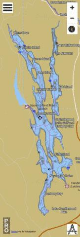 Candlewood Lake Fishing Map - i-Boating App
