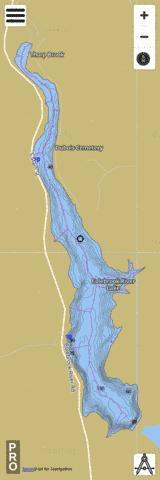 Colebrook River Reservoir Fishing Map - i-Boating App