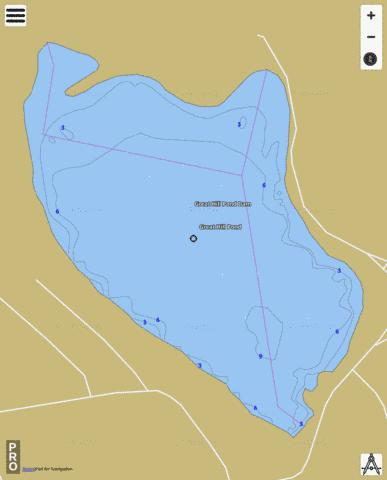 Great Hollow Pond Fishing Map - i-Boating App