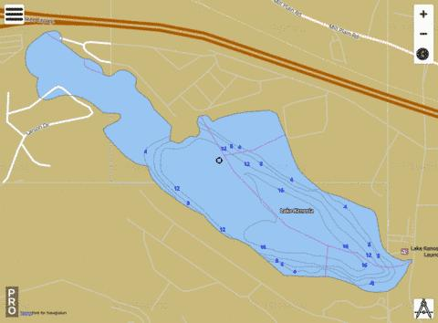 Lake Kenosia Fishing Map - i-Boating App