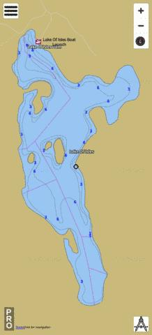Lake Of Isles Fishing Map - i-Boating App