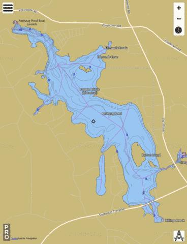 Pachaug Pond Fishing Map - i-Boating App