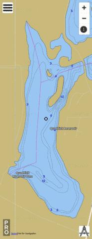 Quaddick Reservoir, Lower Fishing Map - i-Boating App