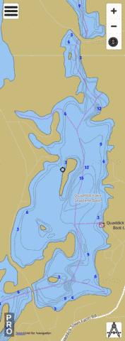 Quaddick Reservoir, Middle Fishing Map - i-Boating App