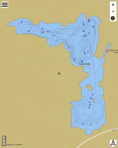 Rogers Lake Fishing Map - i-Boating App