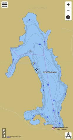 Winchester Lake Fishing Map - i-Boating App