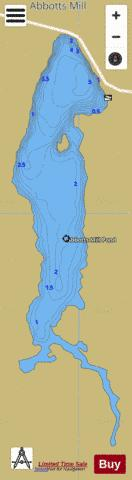 Abbotts Mill Pond Fishing Map - i-Boating App