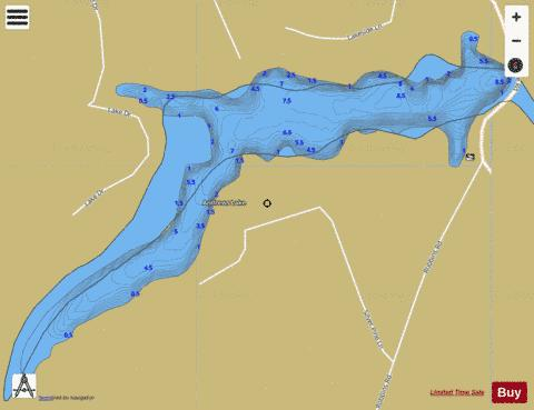 Andrews Lake Fishing Map - i-Boating App