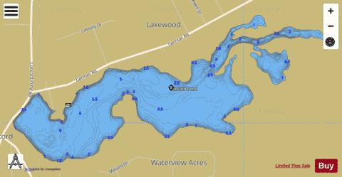 Concord Pond Fishing Map - i-Boating App