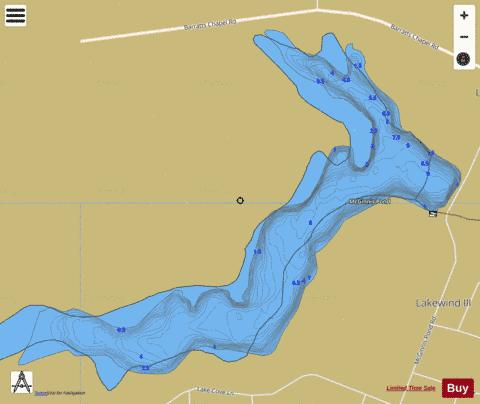 McGinnis Pond Fishing Map - i-Boating App