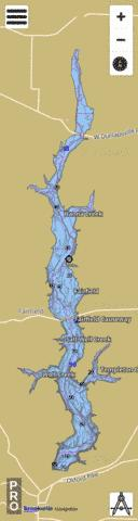 Brookville Lake Fishing Map - i-Boating App