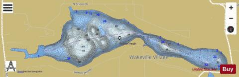 Little Long Lake Fishing Map - i-Boating App