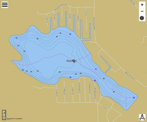 Knapp Lake Fishing Map - i-Boating App