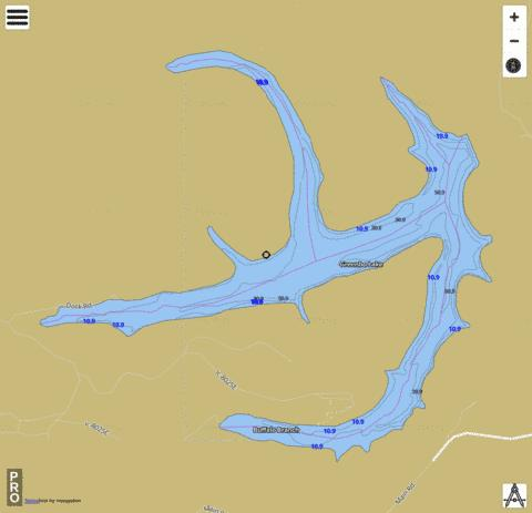Greenbo Lake Fishing Map - i-Boating App