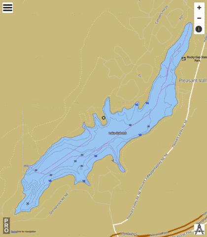 Lake Habeeb Fishing Map - i-Boating App