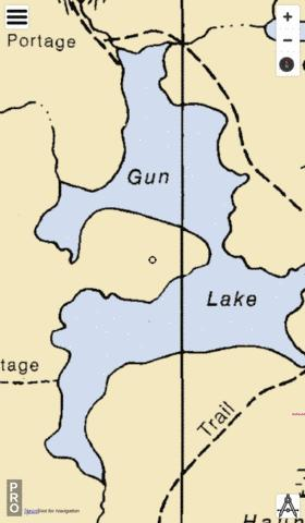 Gun Lake Fishing Map - i-Boating App