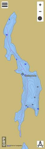 Heritage Lake Fishing Map - i-Boating App