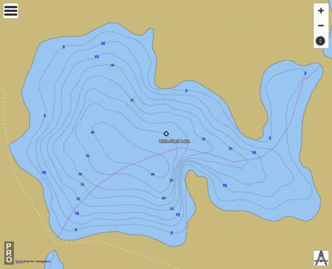 Little Shell Lake Fishing Map - i-Boating App
