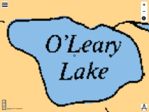 O Leary Lake Fishing Map - i-Boating App