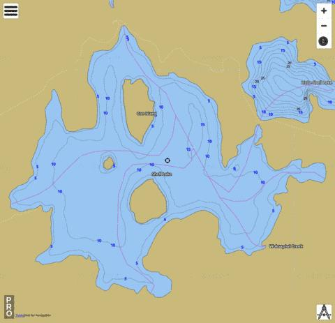 Shell Lake Fishing Map - i-Boating App