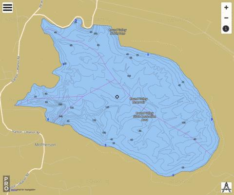 Round Valley Reservoir Fishing Map - i-Boating App