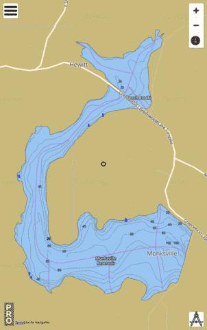 Monksville Reservoir Fishing Map - i-Boating App