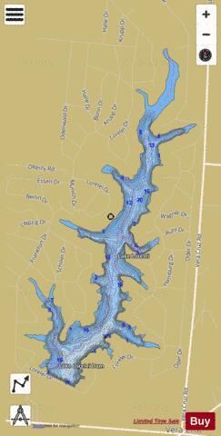 Lake Lorelei Fishing Map USDLOH Nautical Charts App - Kiser lake map