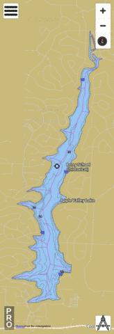 Apple Valley Lake Fishing Map Us Dl Oh 01078224 Nautical